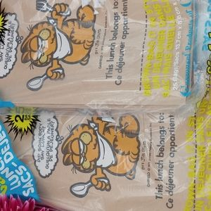 Garfield the Cat Paper Lunch Bags Vintage